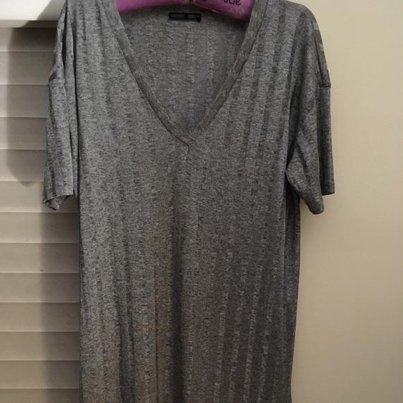 Long silver Zara shirt dress
